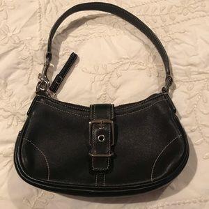 Coach Mini Leather Hampton Demi Handbag, EUC